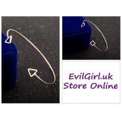 Open square triangle bracelet for girls