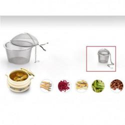 Tea strainer and herbs