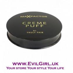 Max Factor Creme Puff Powder Compact - No.81 Truly Fair