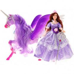 Set Princess Dolls and UNICORN Pegasus