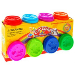 Plasticine set of 8 colors Plasticine magic